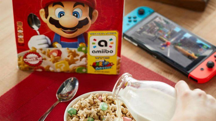 super mario odyssey cereales kellogg's boite