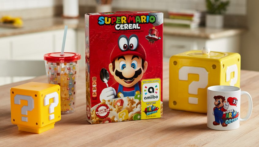 super mario odyssey cereales kellogg's 2