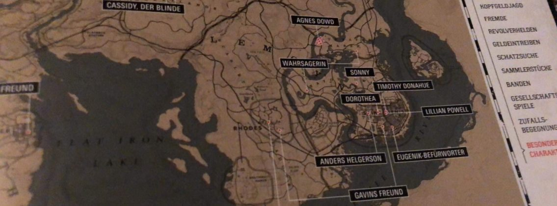carte de Red Dead Redemption II