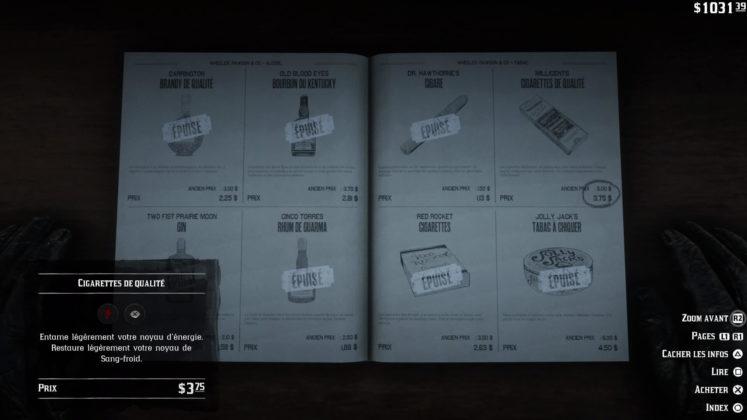 cartes de paquets de cigarettes