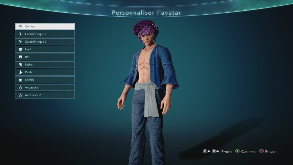 Création Personnage Jump Force Test