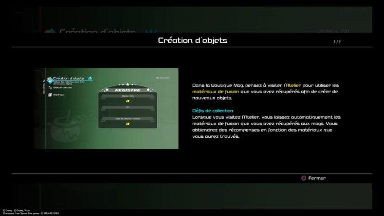 Kingdom Hearts 3 test création objet