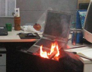 feu ordi portable