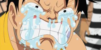Luffy crying