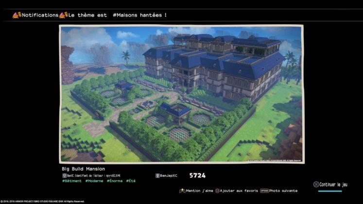 meilleures créationsdragon quest builders 2