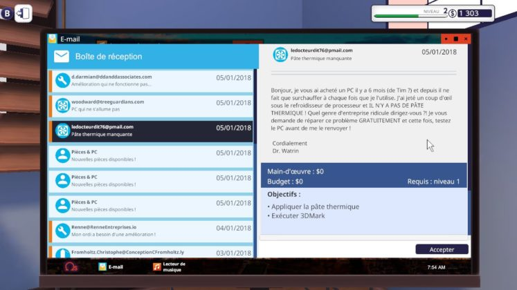 PC Building Simulator - E-mail