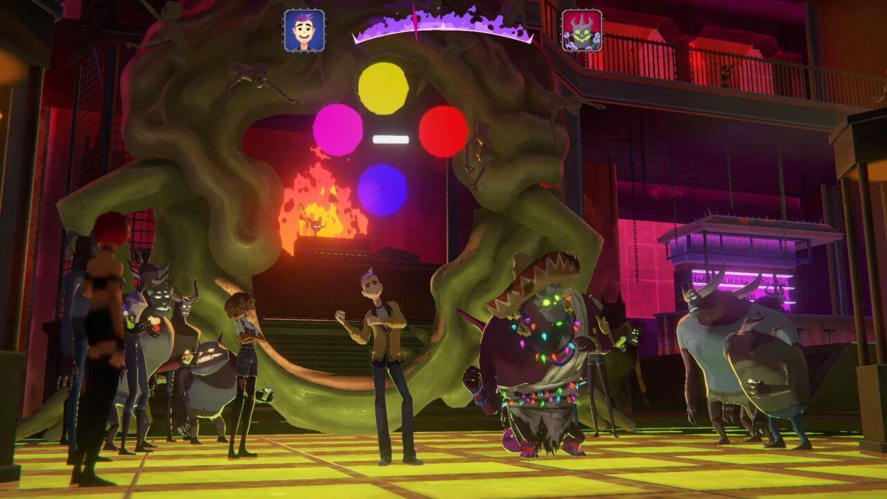 Afterparty : mini jeu de danse