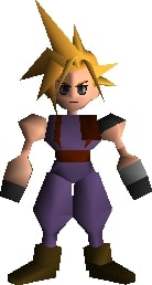Cloud ps1 Final Fantasy VII Remake