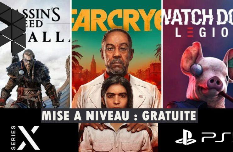 Mise à niveau PS5 Xbox Series X