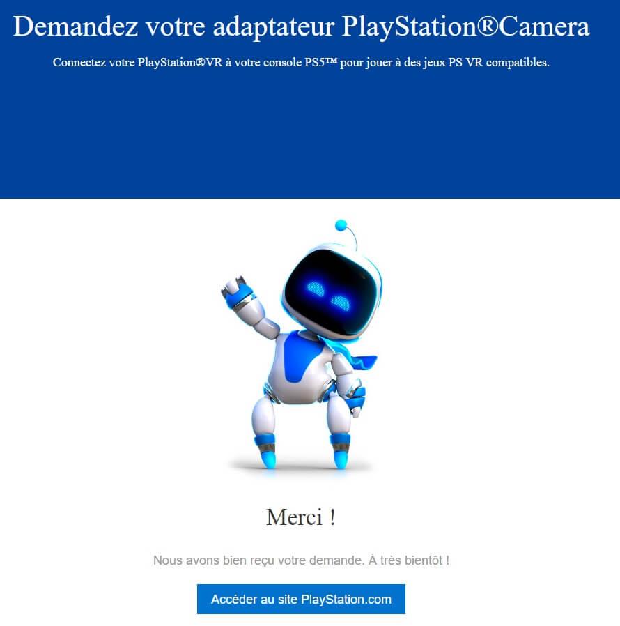 Adaptateur PlayStation Camera PS5 PS VR