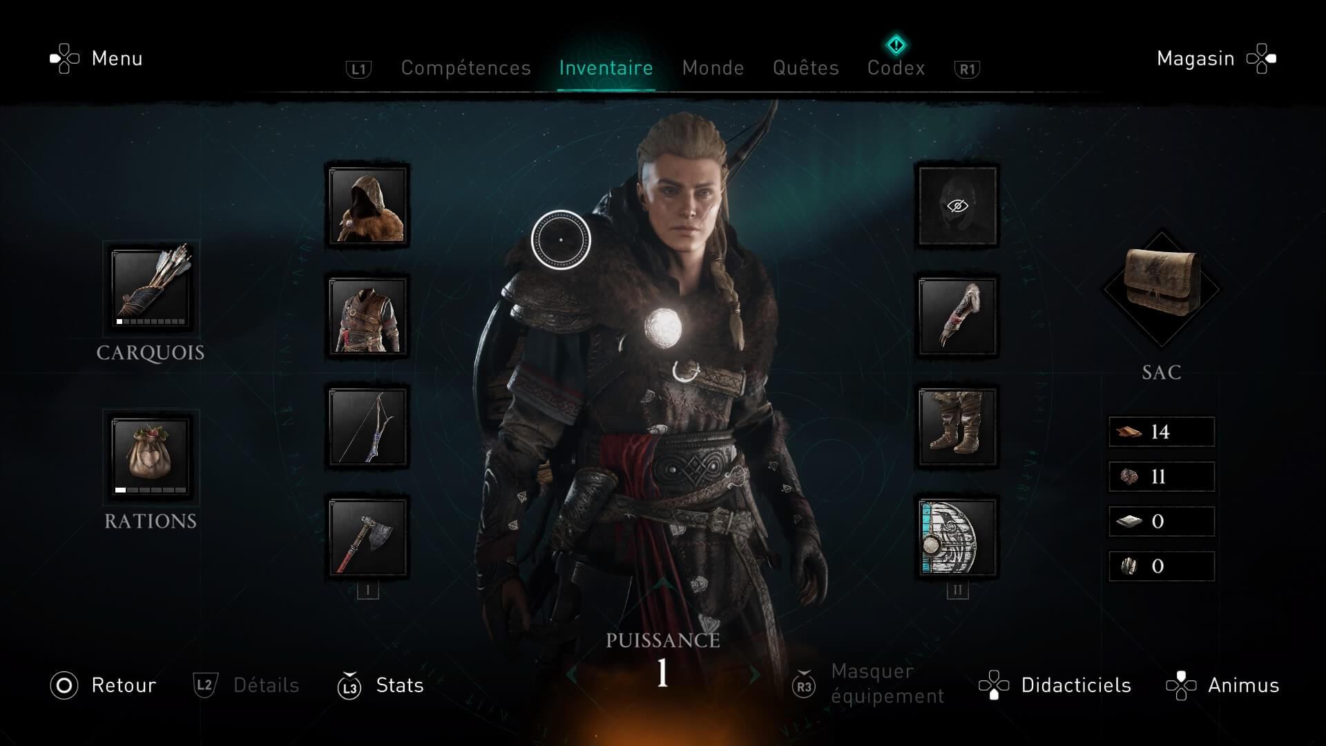 Equipement Assassin's Creed Valhalla