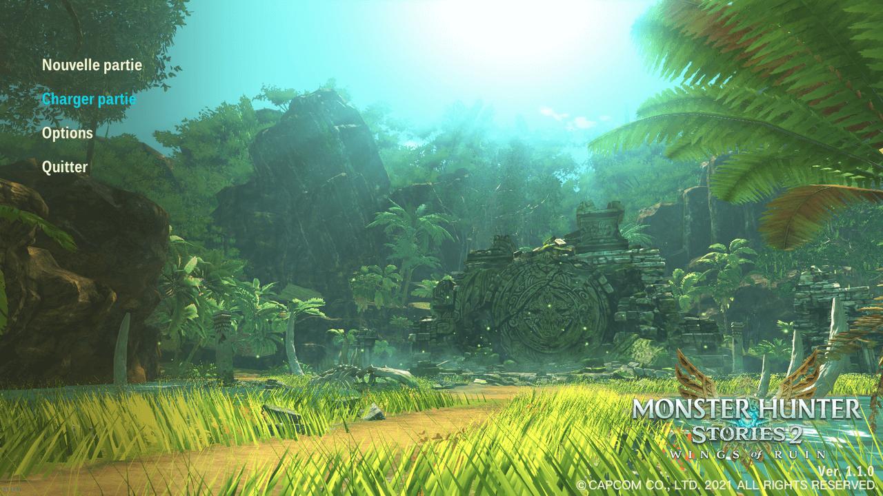 Monster Hunter Stories 2 : Ecran d'acceuil